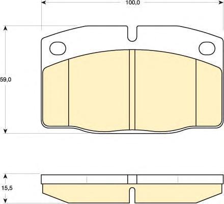 6101999 Колодки тормозные OPEL KADETT E/DAEWOO NEXIA 8v R13 передние