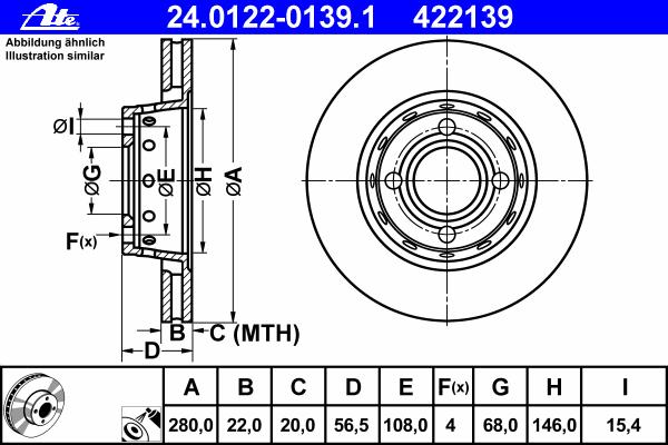 24012201391 Диск тормозной передн, AUDI: 80 1.6/1.6 E/1.9 TD/2.0/2.0 E/2.0 E 16V/2.0 E 16V quattro/2.0 E quattro/2.3 E/2.3 E qua