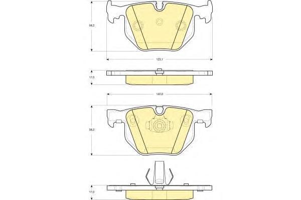 6114992 Колодки тормозные BMW E65/E65 3.0-4.0 01- задние