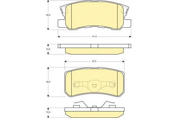 6132479 Колодки тормозные PEUGEOT 4007/MITSUBISHI PAJERO III/OUTLANDER 06 задние