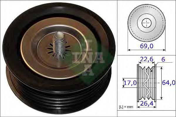 532067110 Ролик ремня приводного MB SPRINTER 2.2D 09- 69x26