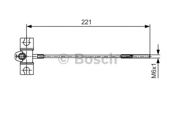 1987477913 Трос ручного тормоза NISSAN ALMERA (N16) 00-/TINO 00- передний 221мм
