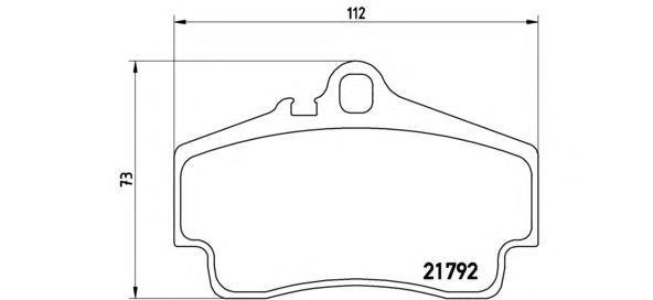 p65008 К-т торм. колодок Re PORSCHE Boxster (986), 911