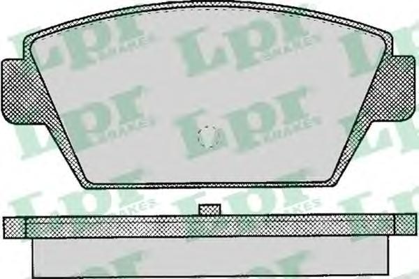 05P044 Колодки тормозные MITSUBISHI GALANT 1.8-2.4 84-92/LANCER 1.6-1.8 89-94 задние