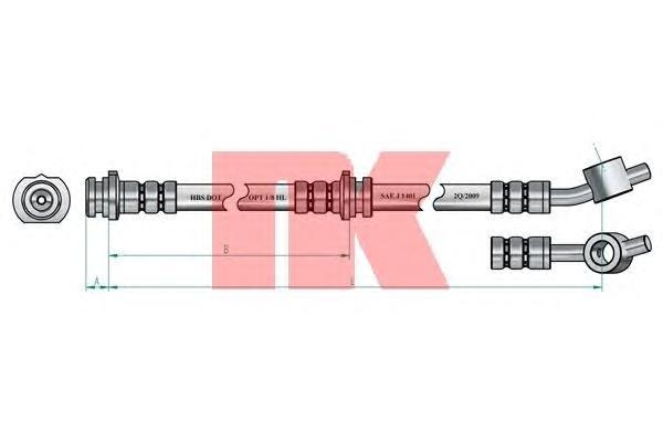 852251 Шланг тормозной NISSAN PRIMERA (P11) 96-02 передний левый