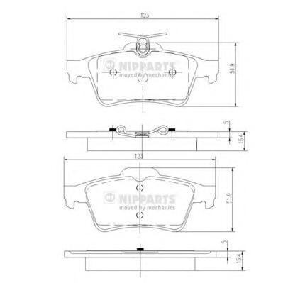 N3613022 Колодки тормозные FORD FOCUS II/III/MAZDA 3/OPEL VECTRA C/VOLVO S40 задние