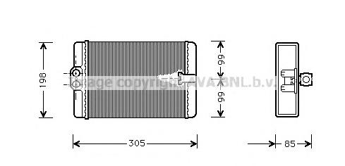 MSA6250 Радиатор отопителя MB W210 2.0-5.5/2.0D-3.2D 96-03