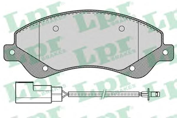 05P1259 Колодки тормозные FORD TRANSIT 06- 280/300-Series передние с датчиком