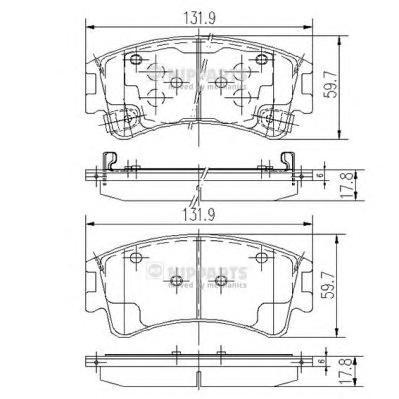 J3603056 Колодки тормозные MAZDA 6 02с индикат.износа передние