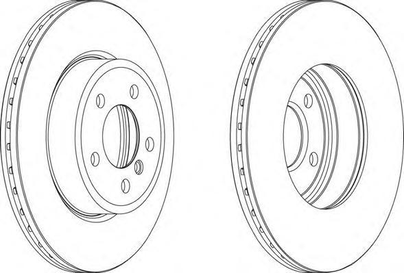 DDF1271 Диск тормозной BMW X3 E83 2.0-3.0 04- передний вент.