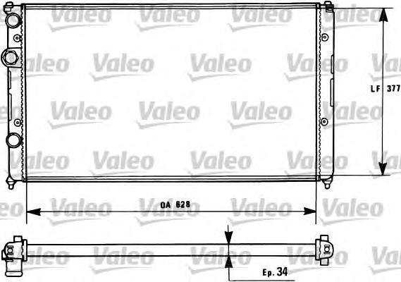 731267 Радиатор системы охлаждения SEAT: AROSA (6H) 1.0/1.4/1.4 16V/1.7 SDI 97-04, CORDOBA (6K2/C2) 1.4 i/1.4 i 16V/1.6 i/1.8 i/