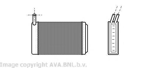 VW6061 Радиатор отопителя AUDI 80 1.3-1.6 72-86 / VW GOLF/PASSAT 1.3-2.2 72-91