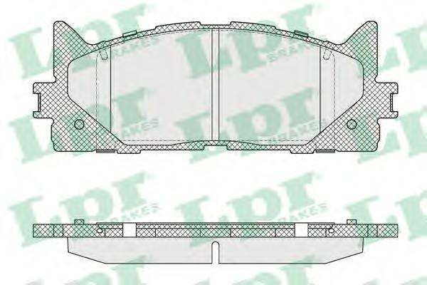 05P1593 Колодки тормозные TOYOTA CAMRY V40 06-/V50 11-/LEXUS ES 240/350 06- передние