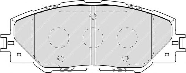 FDB4136 Колодки тормозные TOYOTA RAV 4 05 передние