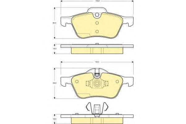 6114762 Колодки тормозные MINI COOPER/ONE 1.4/1.6 01- передние