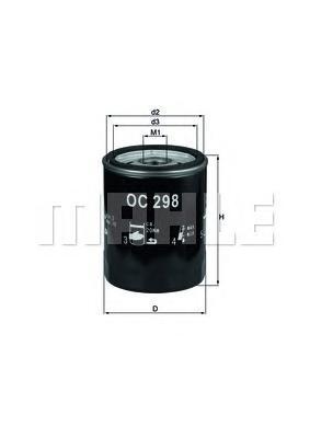 OC298 Фильтр масляный LAND ROVER DISCOVERY 2.5TDI 99-