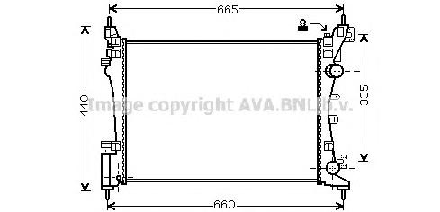 OLA2408 Радиатор OPEL CORSA D 1.0/1.4 06-