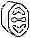 255030 Кронштейн глушителя SKODA FAVORIT/FELICIA 1.3-1.6i 91-01