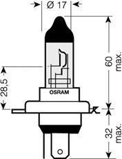 64193CBI02B Лампа H4 12V-60/55W (P43t) COOL BLUE INTENSE (блистер 2шт.)