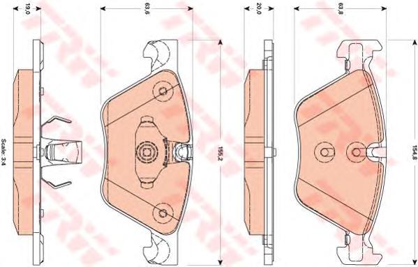 GDB1882 Колодки тормозные BMW 5 F10/F11 2.0-3.0 10- передние