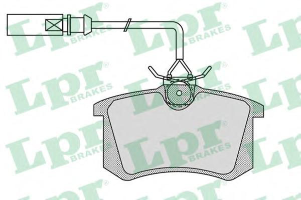 05P980 Колодки тормозные FORD GALAXY 95-06/SEAT ALHAMBRA 96-10/VW SHARAN 95-(R15)задние