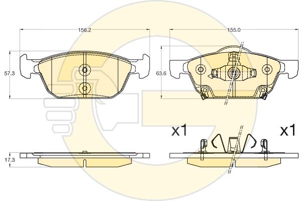 6136006 Колодки тормозные HONDA CIVIC 12- передние
