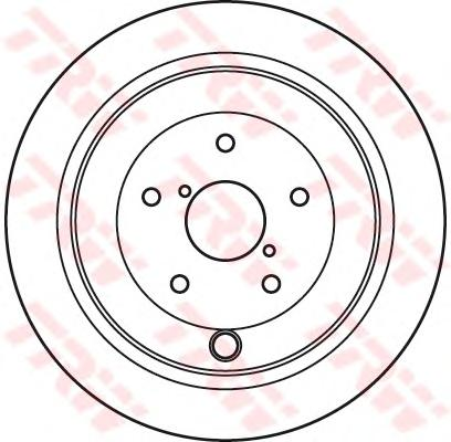 DF4929 Диск тормозной SUBARU TRIBECA 05- задний вент.
