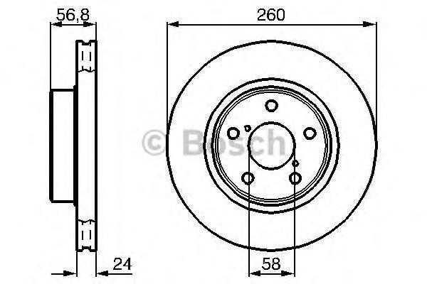 0986478293 Тормозной диск