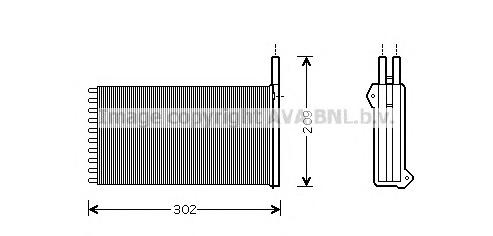 FD6154 Радиатор отопителя FORD ESCORT 1.3-2.0 91-98