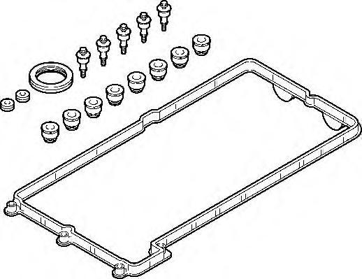 725340 Прокладка клапанной крышки BMW N62 5-8 цил. компл.