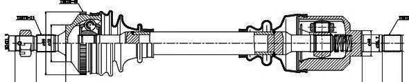 245101 Привод в сборе PEUGEOT 206 2.0 99- лев. +ABS