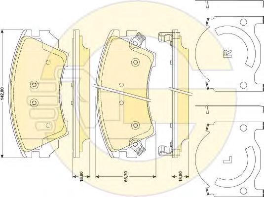 "6117839 Колодки тормозные OPEL INSIGNIA 08-/ZAFIRA 11-/SAAB 9-5 10- R17"" передние"