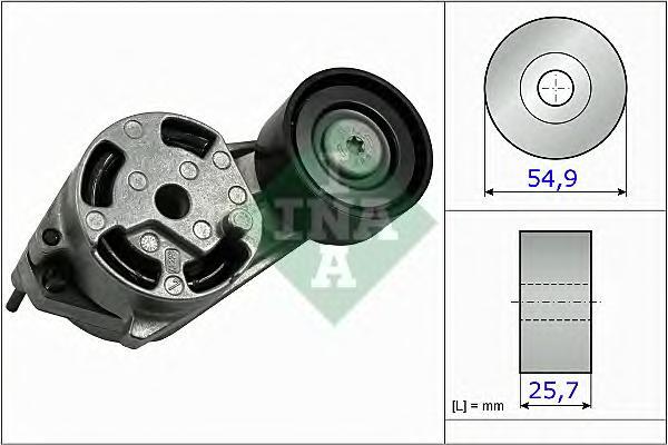 534051610 Ролик приводного ремня BMW 1/3 F20/F21/F30/F31 1.6i 55x25.7x 10