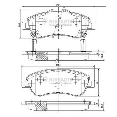 N3604066 Колодки тормозные HONDA CR-V III 07- передние