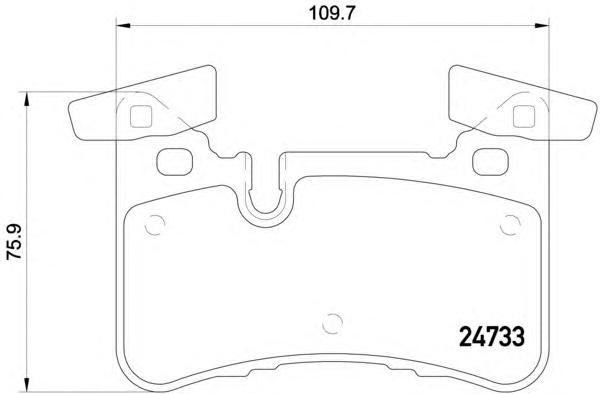 p50110 К-т торм. колодок Re MB E(W212) 09-, CLS(X218) 12-