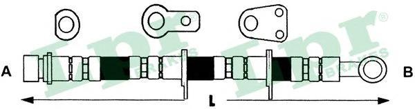 6T48137 Шланг тормозной HONDA ACCORD 98-03 передний правый