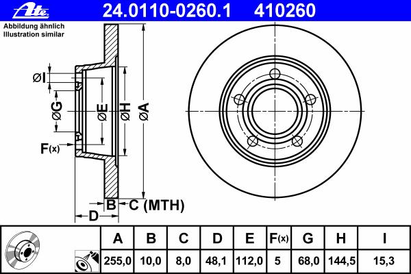 24011002601 Диск тормозной задн, AUDI: A6 1.8 T quattro/2.4 quattro/2.5 TDI quattro/2.7 T quattro/2.8 quattro/3.0 quattro 97-05,