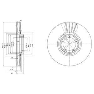 BG3365 Диск тормозной FORD TRANSIT 91-00 R14 передний вентилируемый