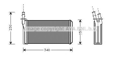 LC6074 Радиатор отопителя LANCIA: KAPPA (838A) 2.0 16V Turbo (838AB1AA)/2.0 20V (838AA1AA)/2.0 20V (838AG1AA, 838AG11A)/2.0 20V