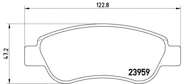 P61081 Колодки тормозные CITROEN C1/PEUGEOT 107/TOYOTA AYGO 1.0/1.4D 05- передние