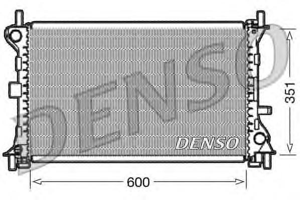DRM10052 Радиатор системы охлаждения FORD: FOCUS (DAW, DBW) 1.8 DI / TDDi/1.8 Turbo DI / TDDi/2.0 16V 98 - 04 , FOCUS седан (DFW