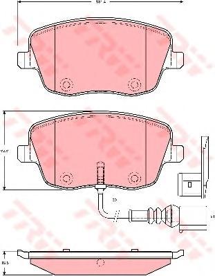 GDB1472 Колодки тормозные SKODA FABIA/VOLKSWAGEN POLO 1.2-1.9D 01- передние