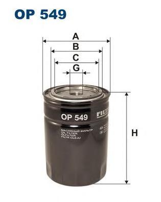 OP549 Фильтр масляный TOYOTA LAND CRUISER 70/80 3.0D-4.5 -97