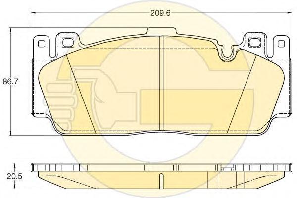 6120205 Колодки тормозные BMW M5(F10) 11-/M6(F06/F13) 12- передние