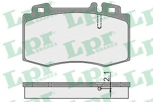 05P899 Колодки тормозные MERCEDES-BENZ W163 9805/W220 9805/W129 передние