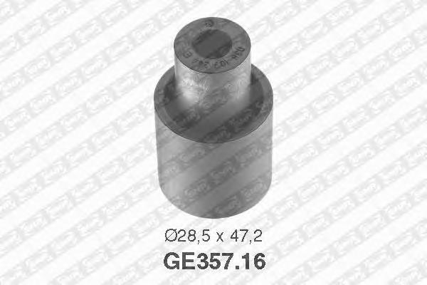 GE35716 Ролик промежуточный ремня ГРМ AUDI: A3, SKODA: Fabia, Octavia, SEAT: Inca, Leon, Toledo, Cordoba, Ibiza, VW: Polo, Bora,