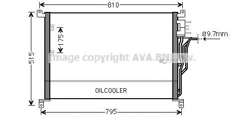 AI5301 Конденсер AUDI A8 2.8-6.0/3.0TD/4.0TD 02-10