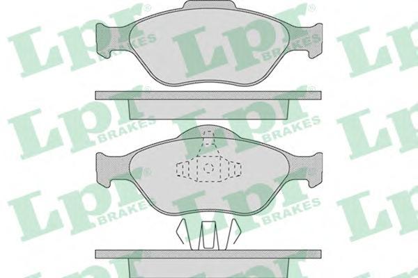 05P949 Колодки тормозные FORD FIESTA 9501/01/FUSION 01 передние