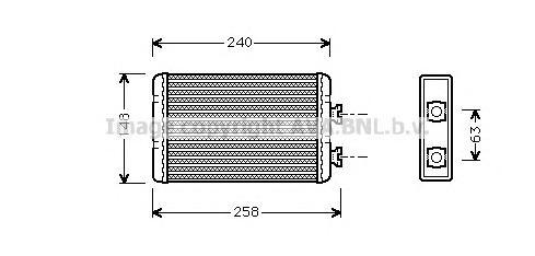 BWA6210 Радиатор отопителя BMW 3 1.6-3.0/ 1.8D-3.0D 98-05