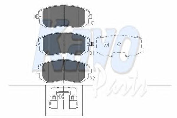 KBP8004 Колодки тормозные SUBARU FORESTER 01-/IMPREZA 01-/LEGACY 98- передние